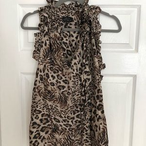 Robert Rodriguez leopard 🐆 racerback silk blouse